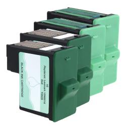 4-piece Black/ Color Ink for Lexmark/ Dell (Remanufactured)