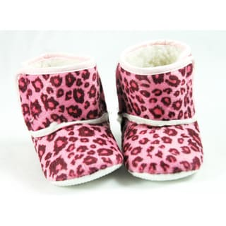 Pink Leopard Infant Girls' Crib Boots