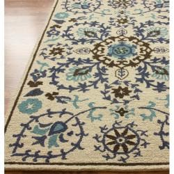 nuLOOM Hand-tufted Marrakesh Suzani Wool Rug (7'6 x 9'6)