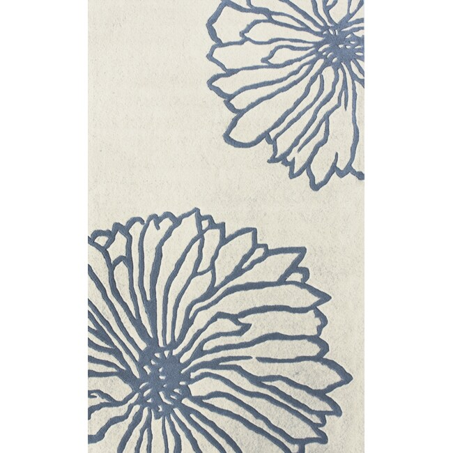 "nuLOOM Handmade Luna Floral-Print New Zealand Wool Rug (7'6"" x 9'6"")"