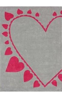 nuLOOM Handmade Deco Kids Hearts Rug (5' x 7')