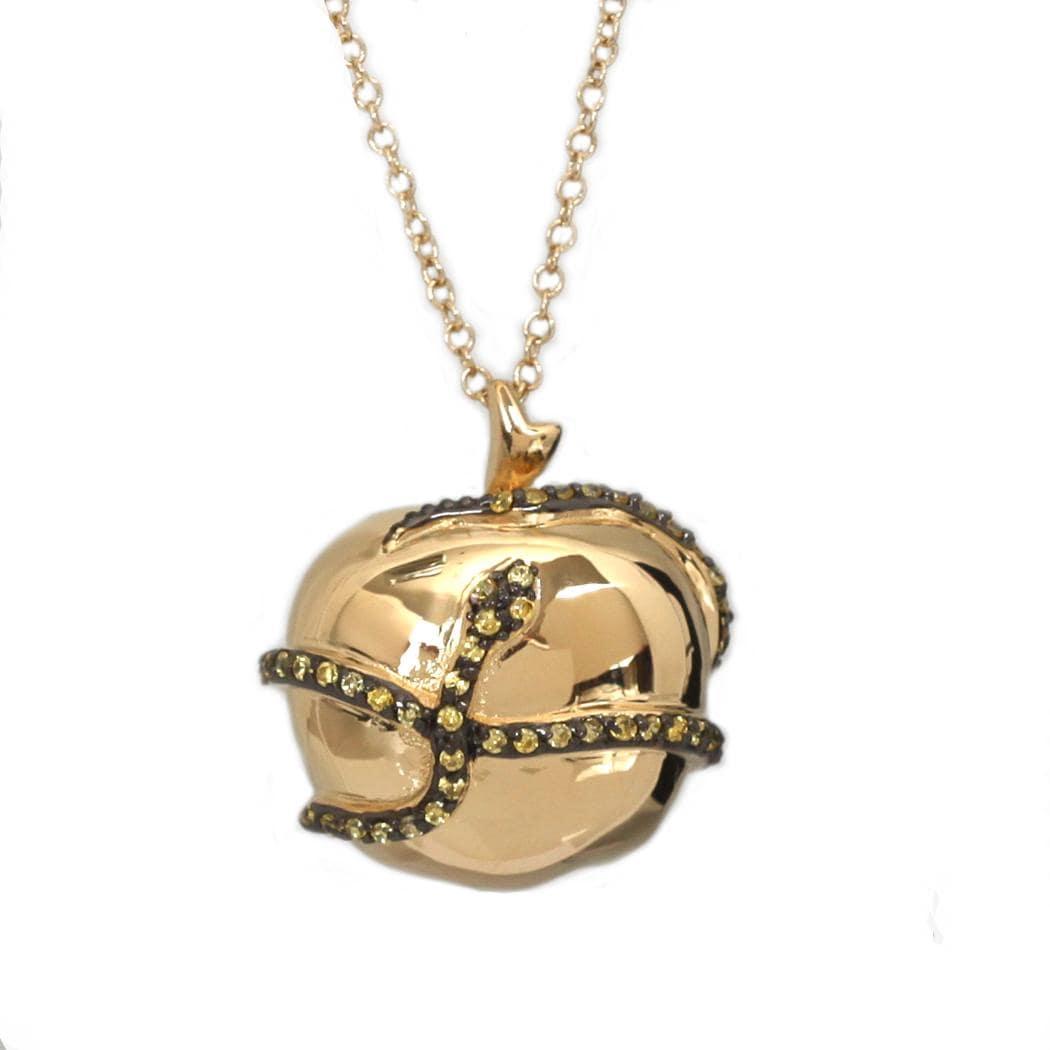 NEXTE Jewelry Goldtone Cubic Zirconia Eve's Temptation Necklace