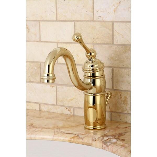 Victorian Centerset Polished Brass Bathroom Faucet