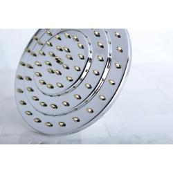 Three-tier 8-inch Chrome/ Polished Brass Showerhead