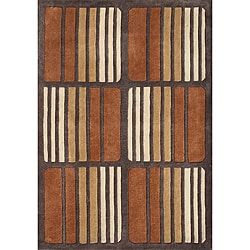 Alliyah Handmade New Zeeland Blend Brown Wool Rug (8' x 10')