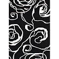 Handmade Sabrina Black New Zealand Wool Rug (8' x 10')