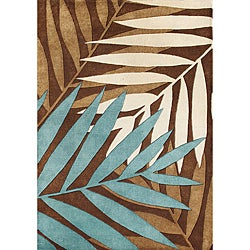 Horizon Hand-tufted Sabrina Brown New Zealand Blend Wool Rug (5' x 8')