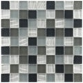 Somertile Maritime Troctus Glass Mosaic Wall Tiles (Pack of 10)