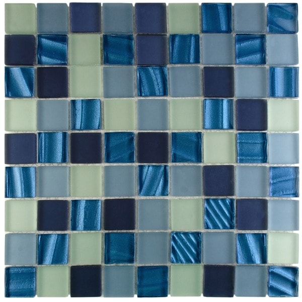 Somertile Maritime Abalone Glass Mosaic Wall Tiles Pack