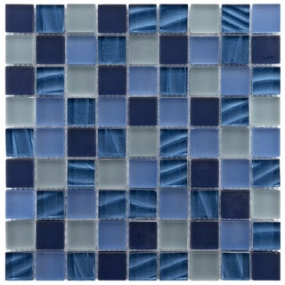 Somertile Maritime Abalone Glass Mosaic Wall Tiles (Pack of 10)
