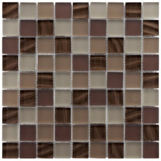 Somertile Maritime Nautilis Glass Mosaic Wall Tiles (Pack of 10)