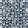 Somertile Reflections Mini 0.625-inch Gulf Glass/ Stone Mosaic Tiles (Pack of 10)