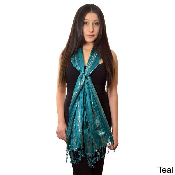 LA77 Women's 'Glitz' Striped Shawl