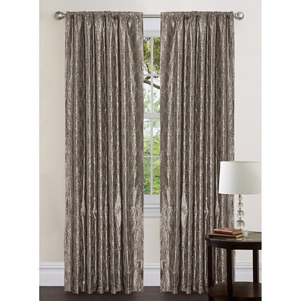 Lush Decor Silver 120-inch Angelica Curtain Panel
