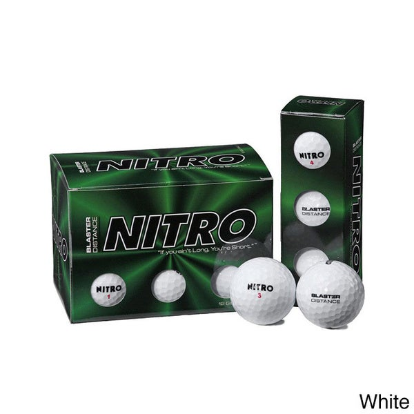 Nitro Blaster Large Two-piece Solid Core Golf Balls (Pack of 72)