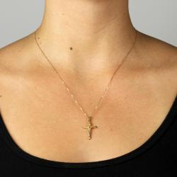 Toscana 14k Yellow Gold Crucifix Charm