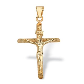 PalmBeach 14k Yellow Gold Crucifix Charm Tailored