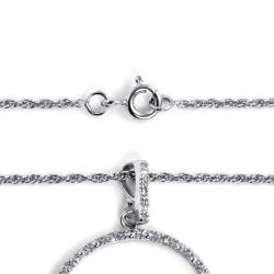 Isabella Platinum over Silver 1/10ct TDW Diamond Heart Necklace (G-H, I2-I3)