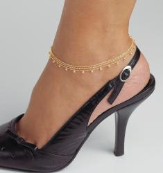 Toscana Collection 18k Gold over Silver Beaded Anklet