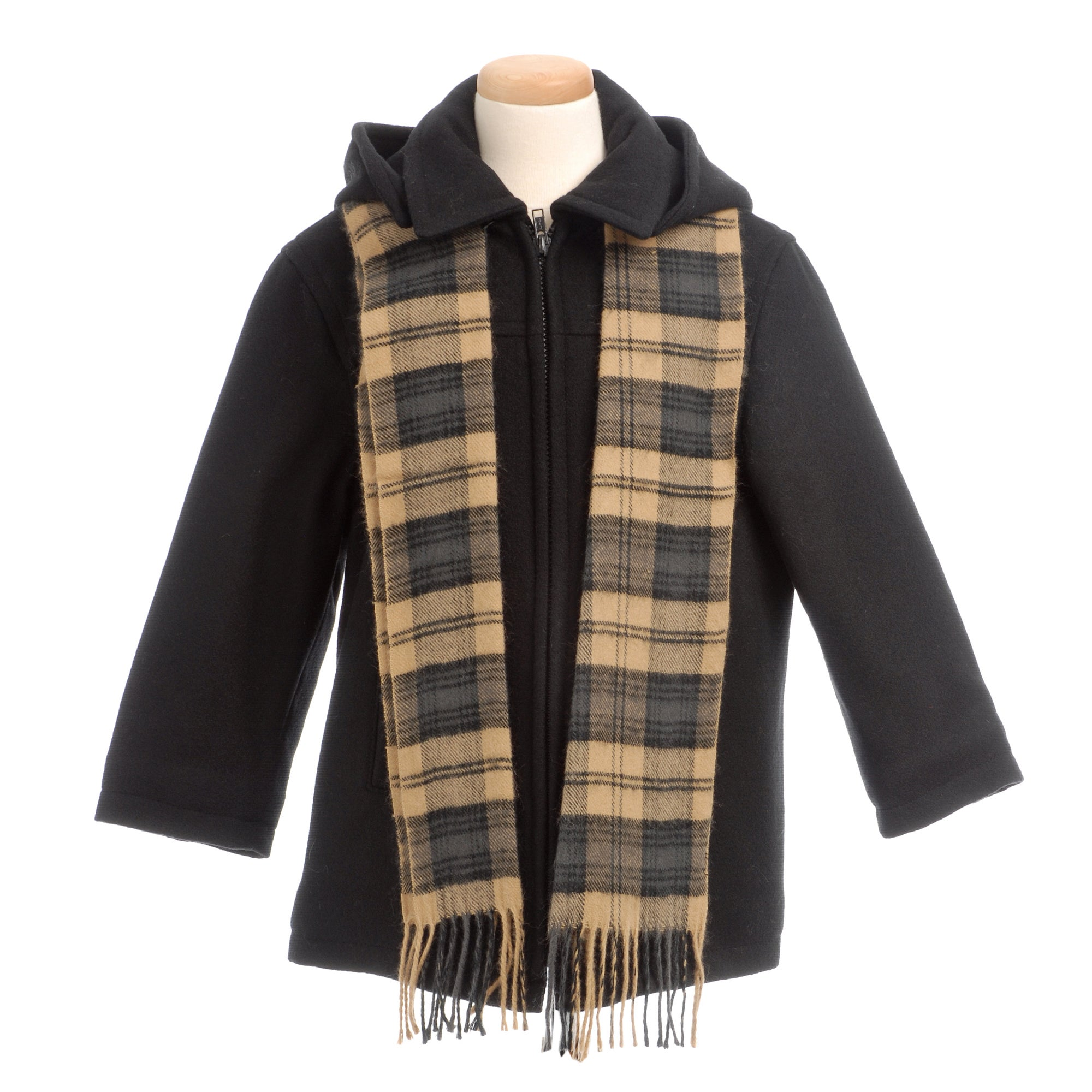 Brian Mathews Boy's Charcoal Wool-blend Jacket