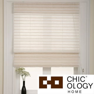 Chicology Serenity Rice Roman Shade (30 in. x 72 in.)