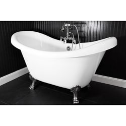 Spa Collection 73-inch Double-slipper Clawfoot Tub and Faucet Pack
