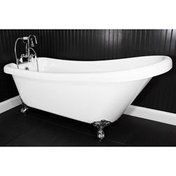 Spa Collection 57-inch Single-slipper Clawfoot Tub and Faucet Pack