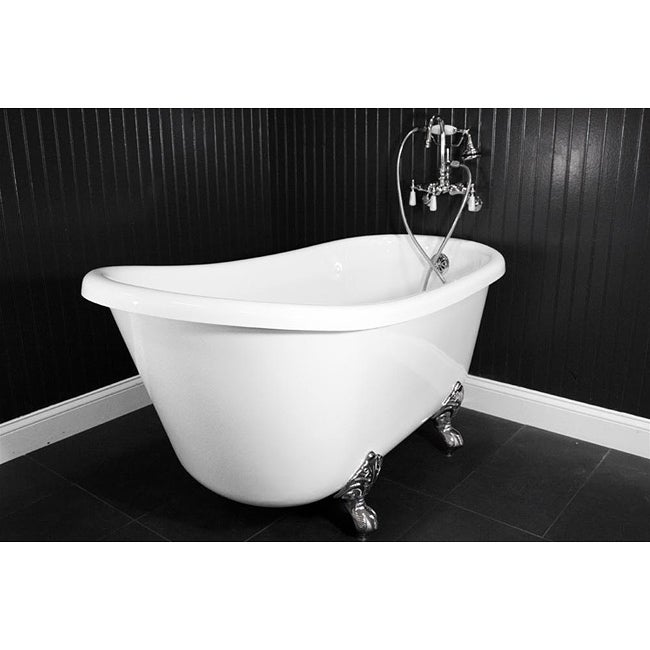 Spa Collection 54 Inch Swedish Clawfoot Tub And Faucet Pack 13804697 Over