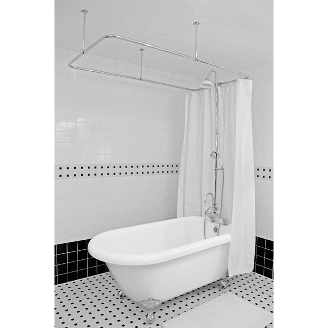 Spa Collection 53-inch Classic Clawfoot Tub and Shower Pack
