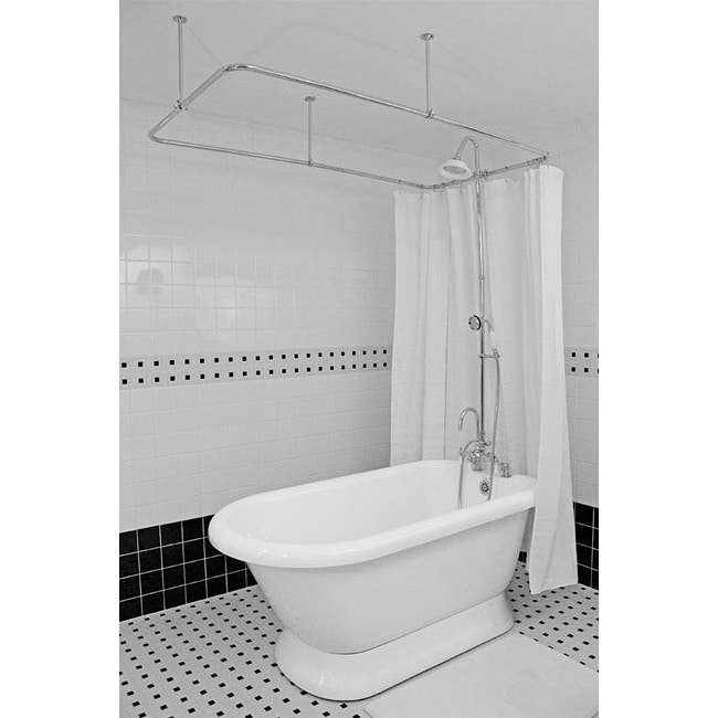 Spa Collection 53-inch Classic Pedestal Tub and Shower Pack
