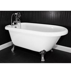 Spa Collection 59-inch Classic Style Clawfoot Tub and Faucet Pack