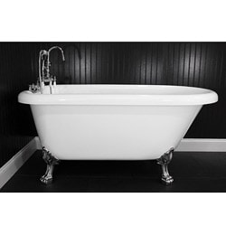 Spa Collection 56-inch Classic Style Clawfoot Tub and Faucet Pack