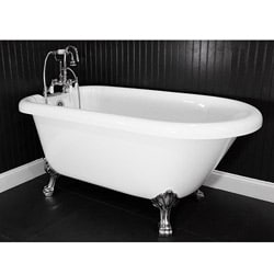 Spa Collection 53-inch Classic Style Clawfoot Tub and Faucet Pack