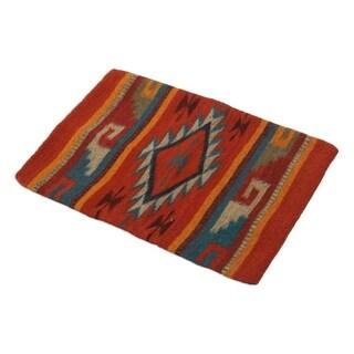 Handmade Wool Monte Alban Zapotec Cushion Cover (Mexico)