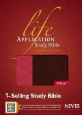 Life Application Study Bible: New International Version Dark Brown / Coral TuTone LeatherLike Personal Size Edition (Paperback)