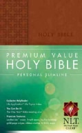 Holy Bible: New Living Translation Brown LeatherLike Premium Value Personal Slimline (Paperback)