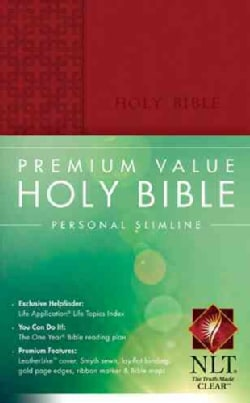 Holy Bible: New Living Translation Brick Red LeatherLike Premium Value Personal Slimline (Paperback)