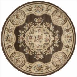 Nourison Chateau Brown Rug (5'3 Round)