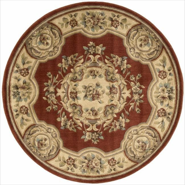 Nourison Chateau Rust Rug (5'3 Round)