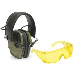 Howard Leight Impact Sport Electric Earmuffs with Stoney Point Standard Safety Glasses