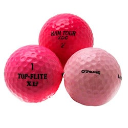 Pink Mixed Model Golf Balls (Pack of 36) (Recycled)