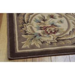 Nourison Chateau Brown Rug (7'9 x 9'9)