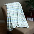 Micro Raschel Stripe Throw