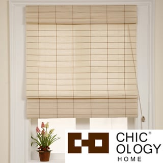 Chicology Kyoto Cappuccino Roman Shade (36 in. x 72 in.)
