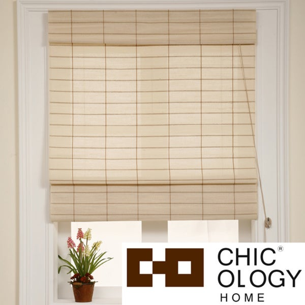 Chicology Kyoto Cappuccino Roman Shade (48 in. x 72 in.)