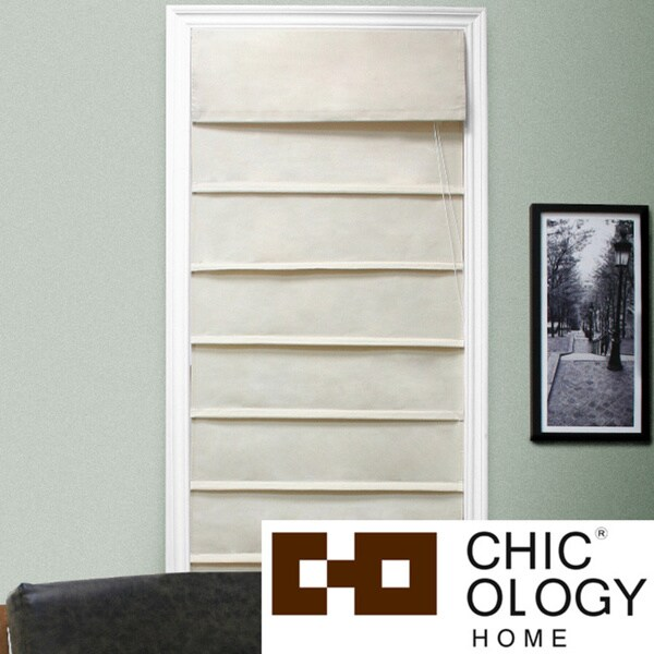 Chicology Sahara Sandstone Roman Shade (23 in. x 64 in.)