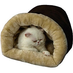 Armarkat 22-inch Faux Suede and Fur Mocha Small Pet Bed