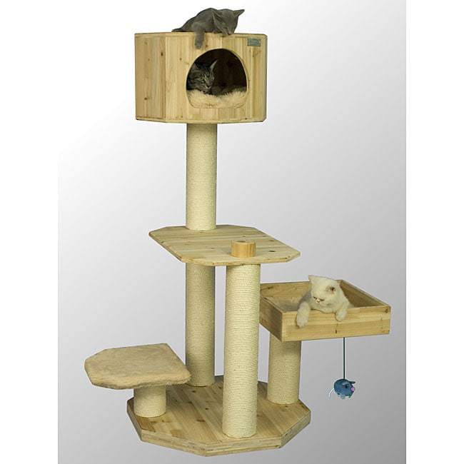 Armarkat High Beige Solid Wood Cat Tree 13806468 Shopping The Best Prices On