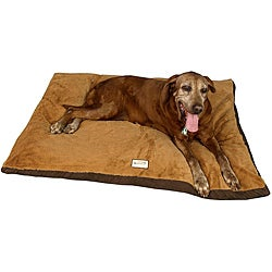 Armarkat 47-inch Brown Faux Suede Pet Bed