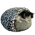 Armarkat Paw-print Cat Bed with Faux-suede Lining and Washable Cover